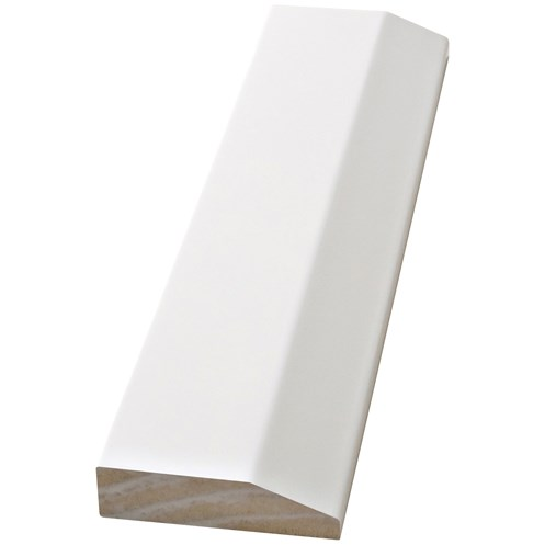 Doras  Java White Architrave Prelacquered - Chamfered Edge