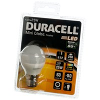 Duracell  LED Mini Globe Light Bulb - 4W BC