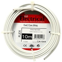 Best Electrical  Oval 2 Core PVC Flex Cable - White
