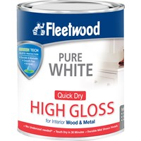 Fleetwood Quick Dry High Gloss Brilliant White Paint - 2.5 Litre