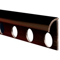 Trojan  Plastic Tile Trim 2500mm - Black