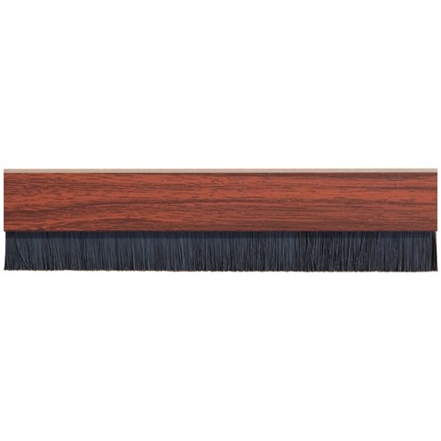 Exitex  Mahogany Brush Strip Concealed Fixing Draught Excluder - 91.4cm