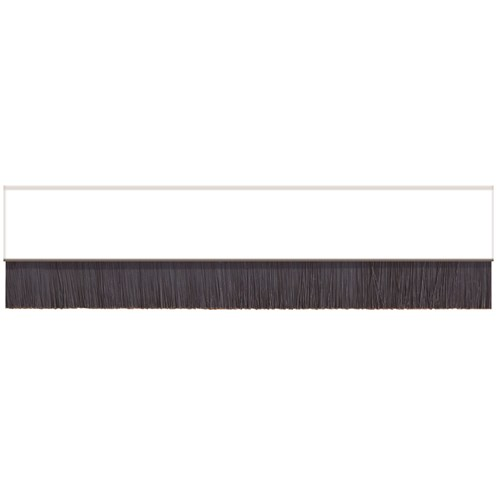 Exitex  White Brush Strip Concealed Fixing Draught Excluder - 91.4cm