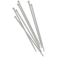 Faithfull  3.6mm Cable Ties 100 Pack - White