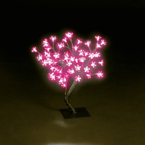 Snowtime  Pink LED Cherry Blossom Tree - 45cm