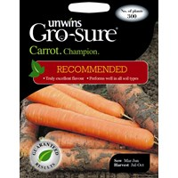 Unwins Gro-Sure Carrot Champion Vegetable Seeds