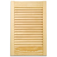 Applications  Pine Louvre Kitchen Cabinet Door - 30in