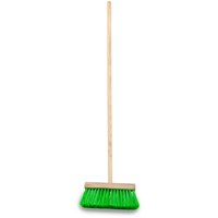 Dosco  Synthetic Yard Brush With Handle - 13in