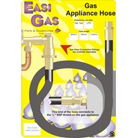 Easi Gas  Ordinary Cooker Hose for LPG - 3' x 1/2in