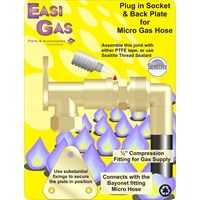 Easi Gas  Micro Cooker Plug in Socket & Back Plate