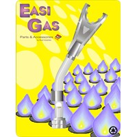 Easi Gas  Arch Style Left Hand Thread Torch Head - 60mm x 3/8in