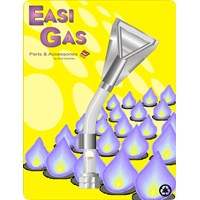 Easi Gas  Fish Tail Style Left Hand Thread Torch Head - 3/8in