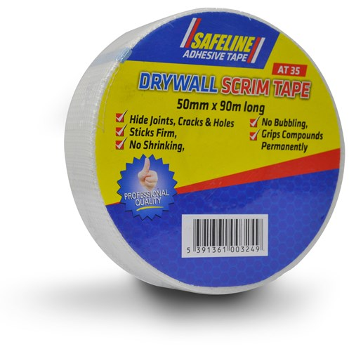 Safeline  Self Adhesive Drywall  Scrim Tape - 50mm x 90m