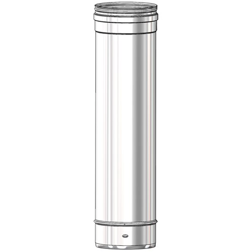 Mi-Flues System 39 Single Wall 304 Grade Flue Pipe - 250mm Length