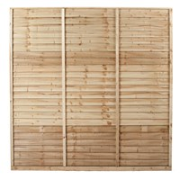 Premium Shiplap Pressure Treated Fence Panel - 1.8M x 1.8M