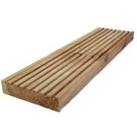 Independent Fencing  Pressure Treated Timber Garden Decking - 4.2m x 150 x 35mm