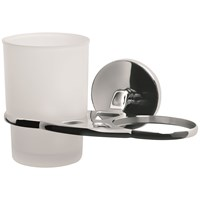Bisk Chroma Double Glass Tumbler & Holder